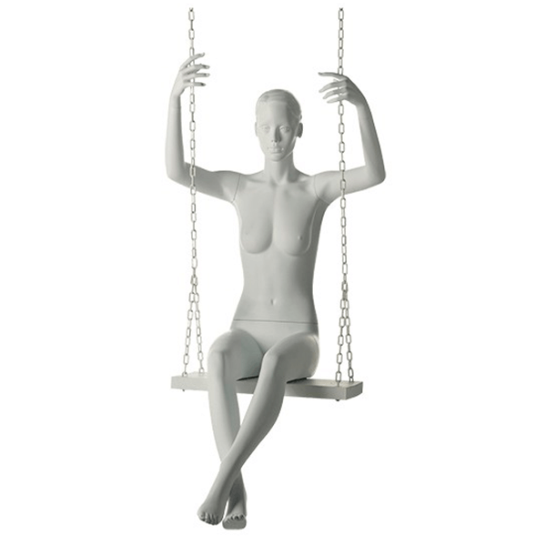 alanis maniquí mujer sentado esculpido