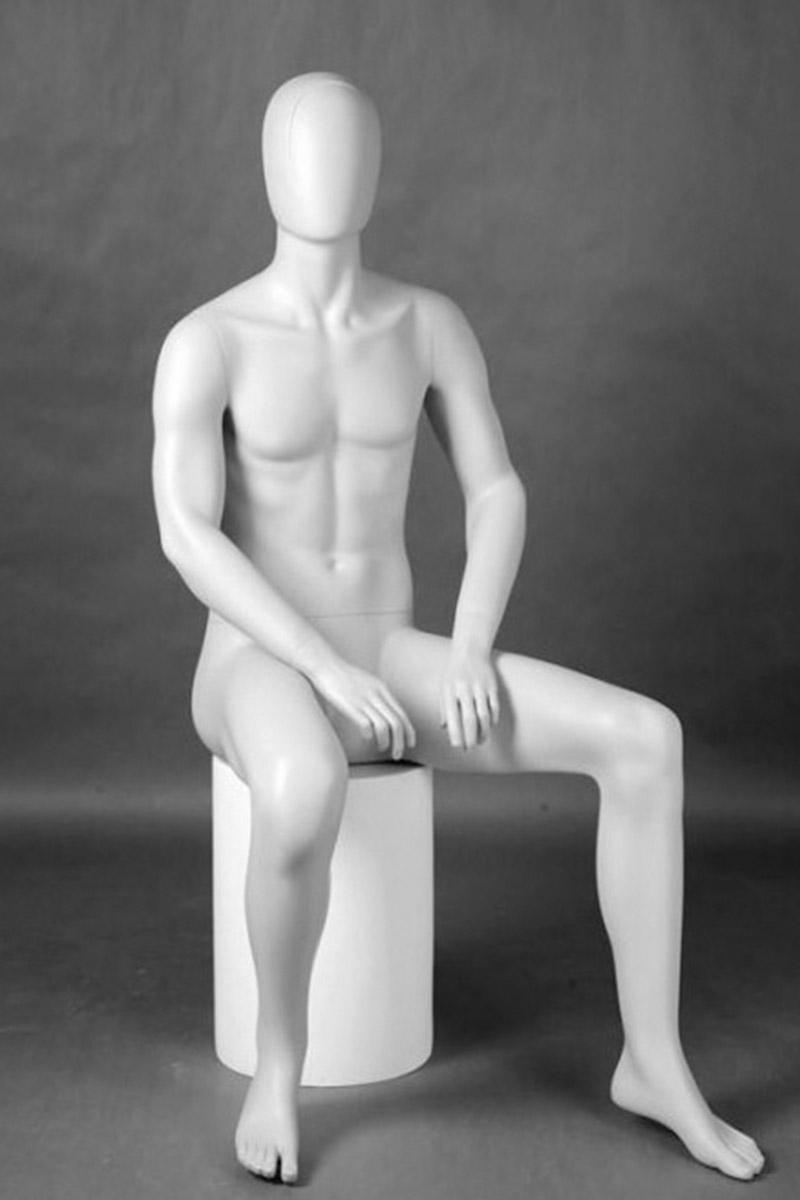 maniqui hombre sentado abstracto