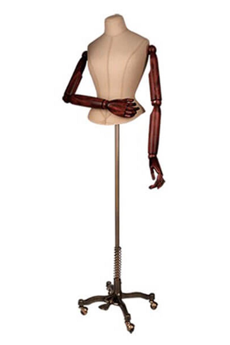 busto torso mujer base metálica
