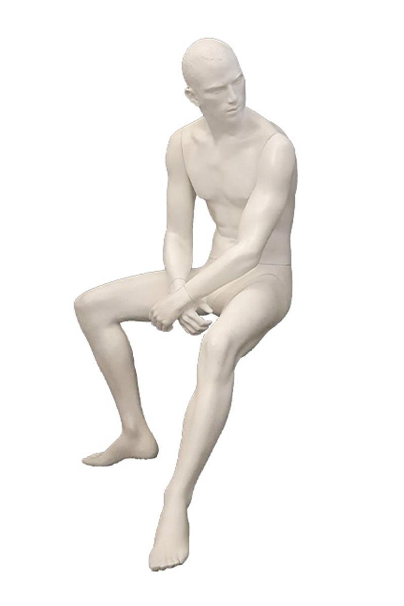 maniqui hombre sentado semiabstracto